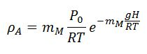 Air Density Eqn
